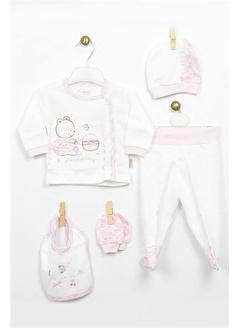 Bebbek Bebbek Picnic Day Kız Bebek 5'Li Hastane Çıkışı Zıbın Seti T-783